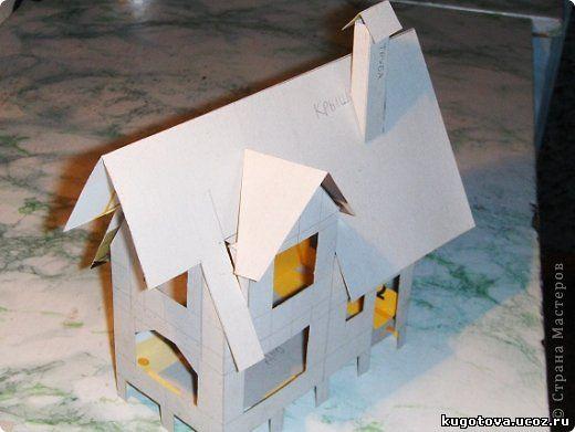 Детский макет дома из бумаги своими руками 68