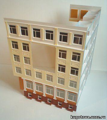 Сделать макет дома своими руками из картона
